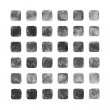 Gray color watercolor blank rounded square shapes — Stock Photo