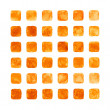 Orange color watercolor blank rounded square — Stock Photo #24188743