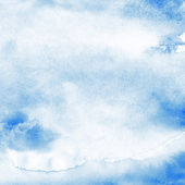 Watercolor texture background. Blue abstract aquarelle — Stock Photo