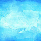 Blue abstract watercolor macro texture background — Stock Photo