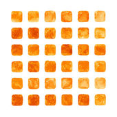 Orange color watercolor blank rounded square — Stock Photo