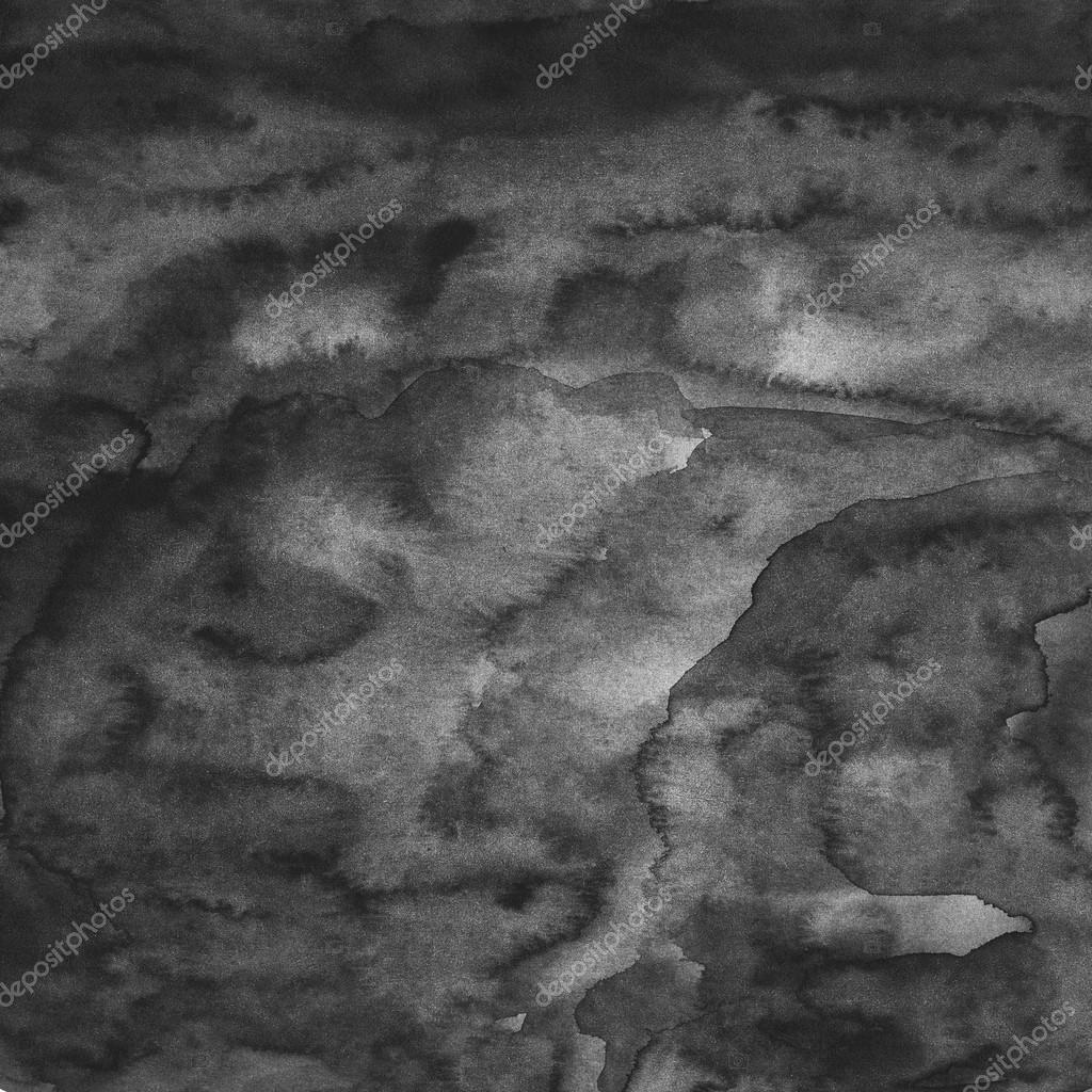 Schwarze leere aquarell textur handgemacht technik - Peinture grey wash ...