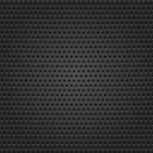 Seamless texture black metal surface rhombus perforated background. — Stock Vector