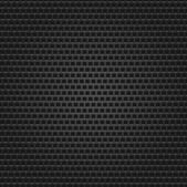 Seamless texture black metal surface square perforated background. — Stock Vector
