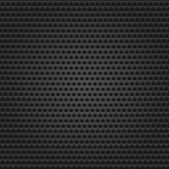 Seamless texture black metal surface dotted perforated background. — Stock Vector
