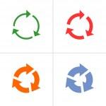 4 arrow  refresh, reload, rotation, loop, sign set — Stock Vector #43902481
