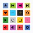 16 media icon set — Stock Vector