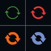 4 arrow sign reload rotation refresh  reset — Stock Vector