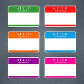 空标记名称标记你好我的名字是 — 图库矢量图片