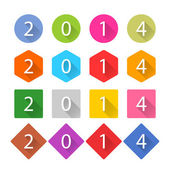 New Year 2014 white title text — Stock Vector