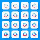 Conjunto de iconos de flecha 16 — Vector de stock