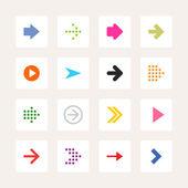 16 arrow sign icon set — Stock Vector