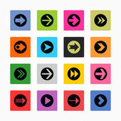 Arrow icon set sign in circle — Stock Vector