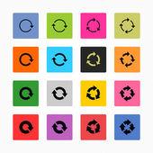 Arrow refresh icon reload sign set. — Stock Vector