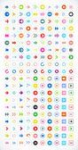 200 arrow sign icon set — Stock Vector