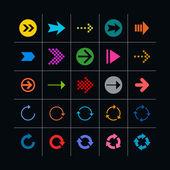 25 arrow sign icon set. — Stock Vector