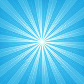 Blue sunburst blank background. — Stock Vector