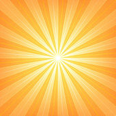 Orange sunburst blank background. — Stock Vector
