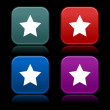Постер, плакат: Buttons with star on black