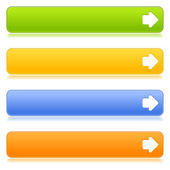 Barevná Webová tlačítka s šipkou — Stock vektor