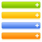 Botones web con signo — Vector de stock