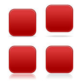 Red web buttons — Stock Vector