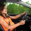 Pregnant WomDriving Car — Stock Photo #23364910