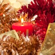 Christmas Candle Light and Ribbon — Stock Photo #23710509