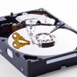 Datinside Hard Disk is Encrypted — Stock Photo #23710627