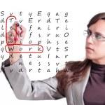 teamwerk kruiswoordraadsels — Stockfoto