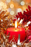 Christmas Candle Light — Stock Photo