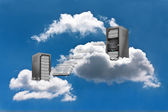Cloud Computing - Virtual Machine Motion — Stock Photo