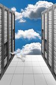 Cloud Computing - Datacenter — Stock Photo