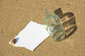 Note found in a bottle at the beach (Write your won text) — Stock Photo