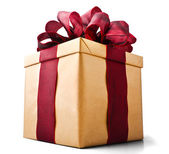 Present box seen from Bellow — Stock Photo