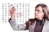 Teamwork Crosswords — Stock Photo