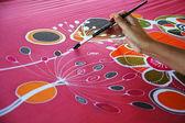 Batik painting — Stock Photo