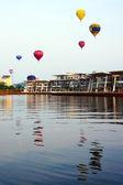 Hot air balloon event — Stock Photo