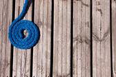 Azul línea de amarre — Foto de Stock