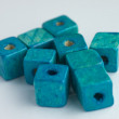 Teal cube beads — Stock Photo #37127173