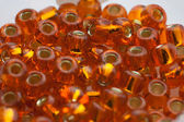 Orange glass beads — Stockfoto