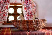 Wicker Baby cot — Stock Photo