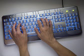 Computer typing — Stock Photo