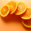 Color orange slices — Stock Photo