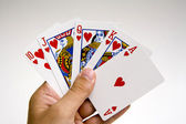 Poker winning hand set — Stock Photo