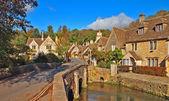 Castle combe, İngiltere'de güzel Köyü — Stok fotoğraf