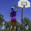 Stock Photo: Basket ball practice in Western Australia