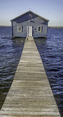The iconic boat shed on the Swan River in Perth — Stock Photo