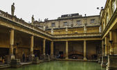 The Roman baths in the city of Bath in Somerset UK — Stock Photo