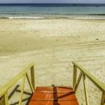 Surf life savers tower at Las Cuevas in Trinidad — Stock Photo